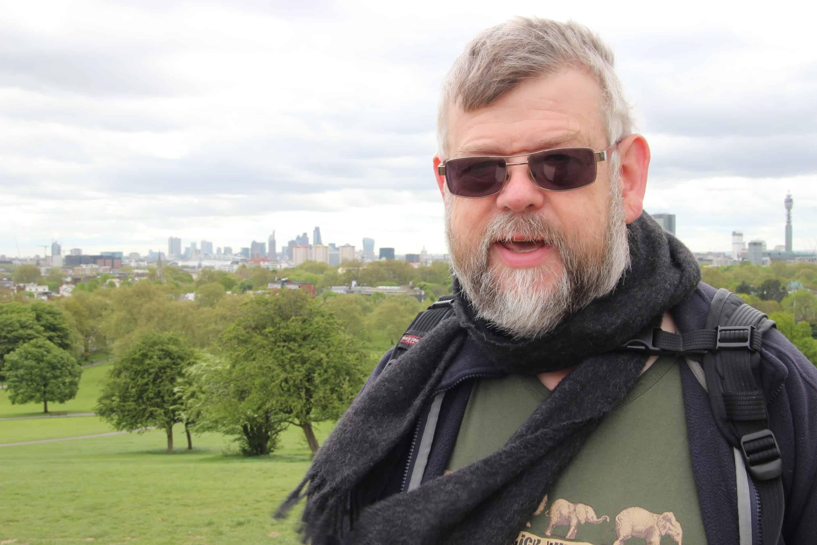 David on Primrose Hill Taken by Elly Clarke