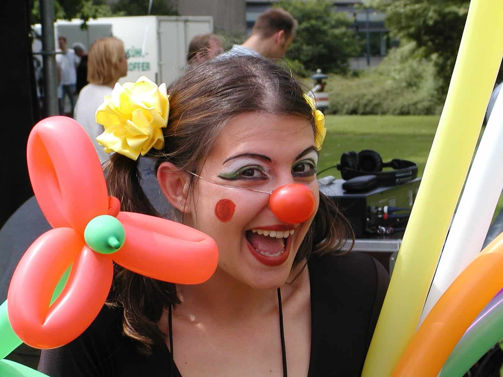 Image of female clown